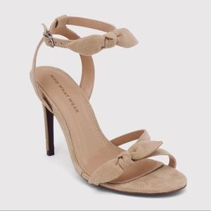 Women's Who What Wear Taupe Eden Ankle Strap Heels
